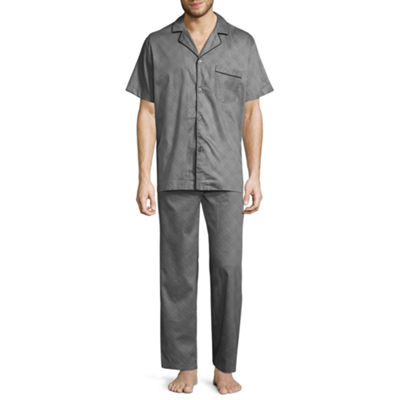 Stafford Men's Short Sleeve/Long Leg  Pajama Set  - Big and Tall