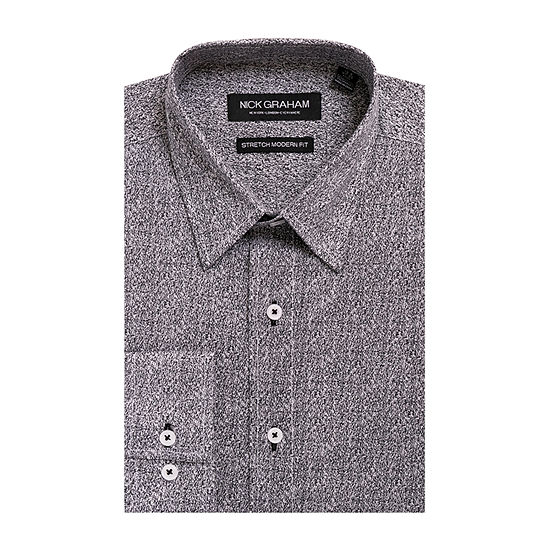 Nick Graham Everything Fitted Long Sleeve Dress Shirt