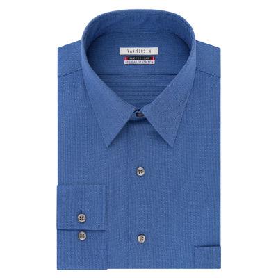 Van Heusen Vh Flex Collar Long Sleeve Twill Stripe Dress Shirt