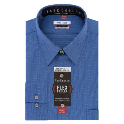 Van Heusen Flex Collar Long Sleeve Woven Pattern Dress Shirt Big and Tall