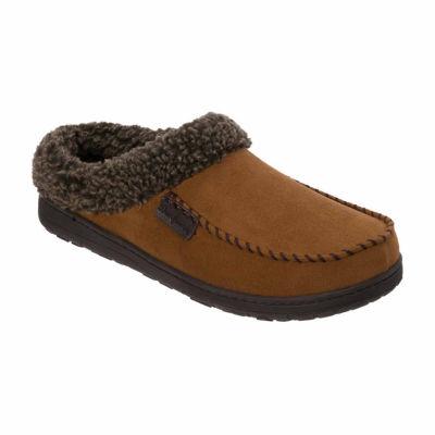 Dearfoams® Moccasin Toe Clog with Berber Cuff - Wide