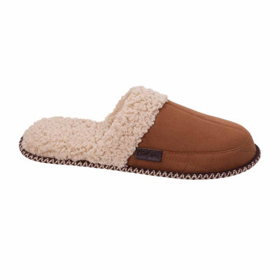 Dearfoams Microsuede Slipper with Quilting and Memory Foam