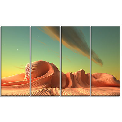 Designart 3D Alien World Surreal Fantasy Contemporary Artwork - 4 Panels