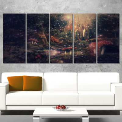 Designart Abstract Collage Art Abstract Canvas ArtPrint - 4 Panels