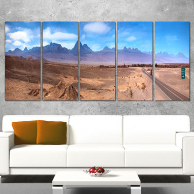 Designart San Pedro De atacama Chile Panorama Cityscape Canvas Print - 5 Panels