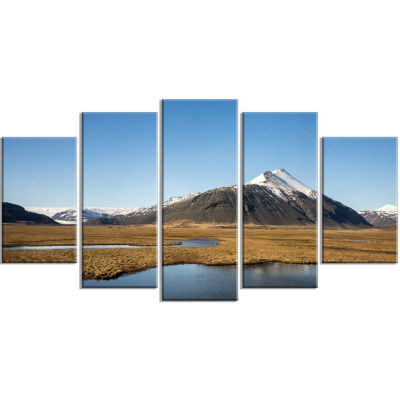 Scenic Southern Iceland Landscape Photography Canvas Print - 4 Panels