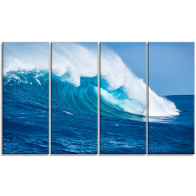 Designart Sea Returns Photography Seascape CanvasPrint - 4Panels