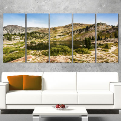 Designart Secret Lake at Albion Basin Landscape PhotographyCanvas Print - 4 Panels