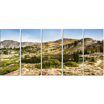 Designart Secret Lake at Albion Basin Landscape PhotographyCanvas Print - 5 Panels