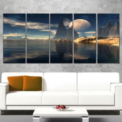 Designart Antara Alien Planet Photography CanvasArt Print -4 Panels