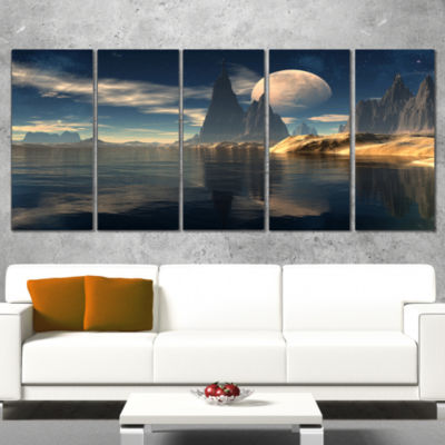Designart Antara Alien Planet Photography CanvasArt Print -5 Panels