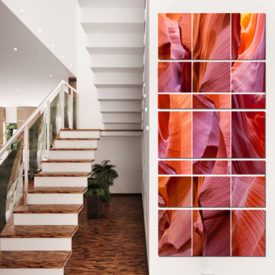 Designart Antelope Canyon Collage Landscape PhotoCanvas Art Print - 5 Panels
