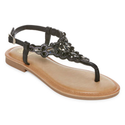 GC Shoes Womens Phoebe Adjustable Strap Flat Sandals