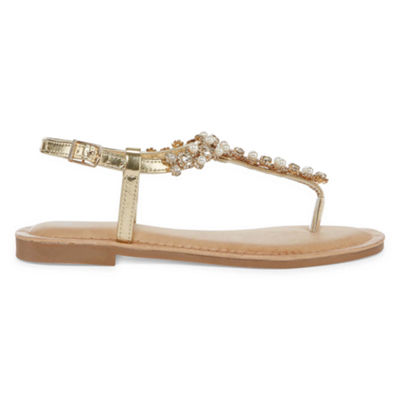 GC Shoes Womens Layla Adjustable Strap Flat Sandals
