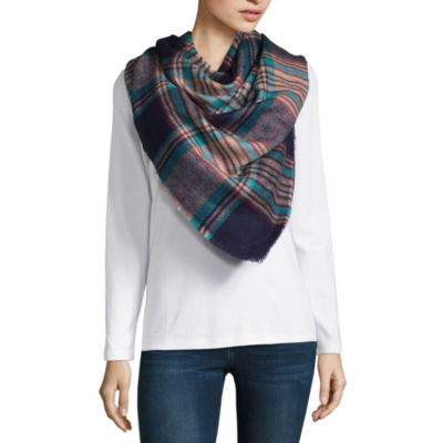 City Streets Plaid Blanket Cold Weather Scarf
