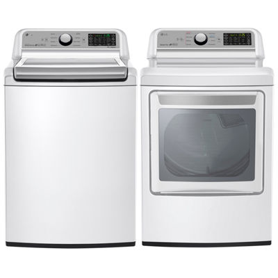 LG Electric Washer and Dryer Package- White