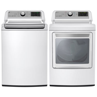 LG Gas Washer and Dryer Package- White