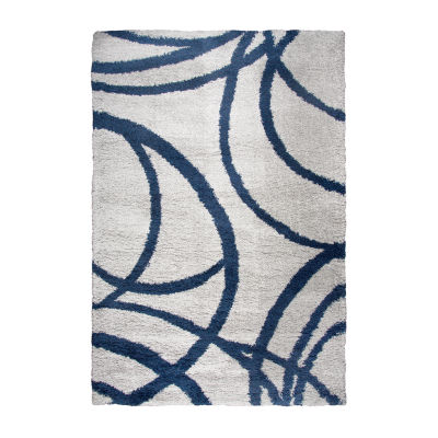 Rizzy Home Adana Collection Evelyn Circles Rectangular Rugs