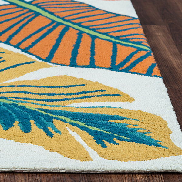 Rizzy Home Azzura Hill Collection Charlotte Leaf Rugs