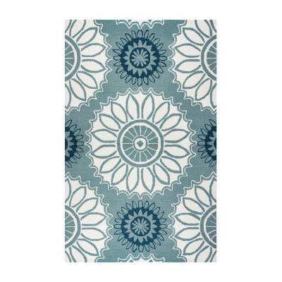 Rizzy Home Azzura Hill Collection Emily Medallion Rugs