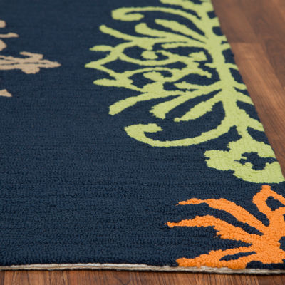 Rizzy Home Azzura Hill Collection Jasmine Medallion Rugs