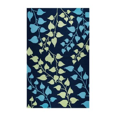 Rizzy Home Azzura Hill Collection Kinsley Leaf Rugs
