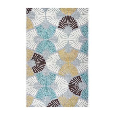 Rizzy Home Azzura Hill Collection Maria GeometricRugs