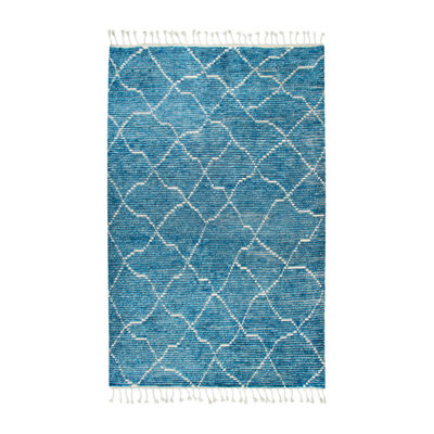 Rizzy Home Berkley Collection Mary Diamond Rectangular Rugs