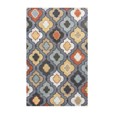 Rizzy Home Bradberry Downs Collection Ximena Geometric Rugs
