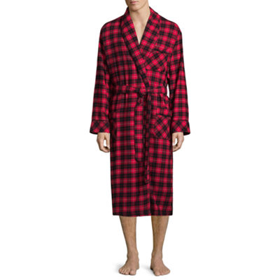 Stafford® Men's Flannel Robe - Big