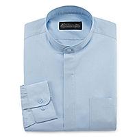 Deals on Damante Modern Mens Banded Collar Long Sleeve Dress Shirt