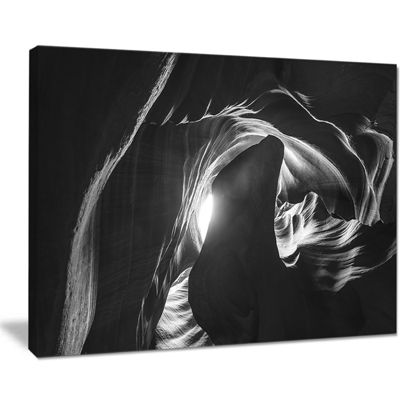Designart Antelope Canyon in Navajo Landscape Photography Canvas Print - 4 Panels