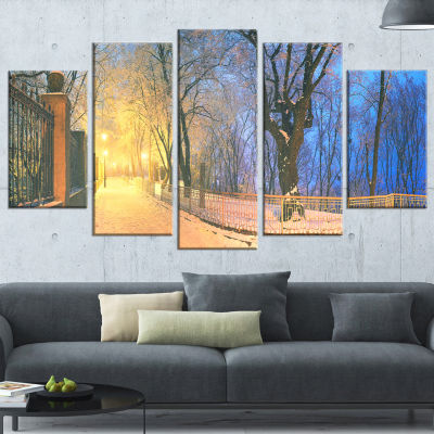 Designart Source of Light at Mariinsky Garden Landscape Photography Canvas Print - 4 Panels