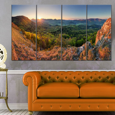 Designart Spring Forest Slovakia Landscape Photography Canvas Print - 4 Panels