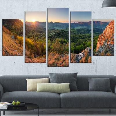 Designart Spring Forest Slovakia Landscape Photography Wrapped Print - 5 Panels
