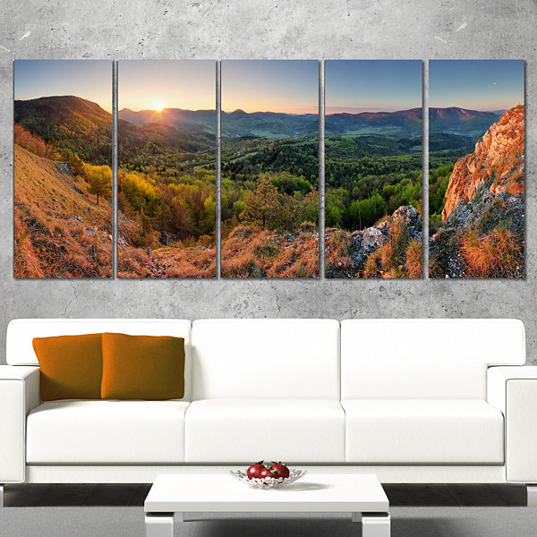 Spring Forest Slovakia Landscape Photography Canvas Print - 5 Panels