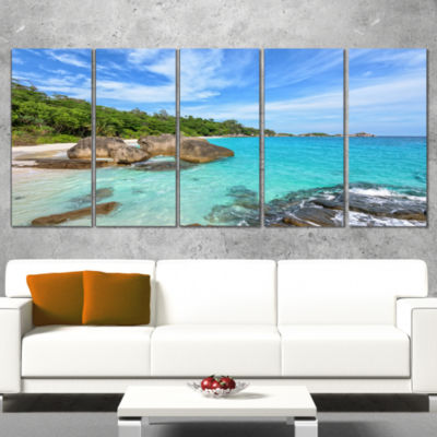 Designart Summer Sea in Thailand Landscape Photography Canvas Print - 4 Panels