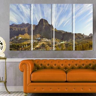 Designart Sunrise Over Ei Teide National Park Landscape ArtPrint Canvas - 4 Panels