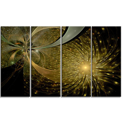 Designart Symmetrical Firework Pattern Abstract Print on Canvas - 4 Panels
