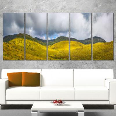 Designart the Horton Plains Landscape Painting Canvas Print- 4 Panels
