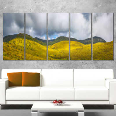 Designart the Horton Plains Landscape Painting Canvas Print- 5 Panels