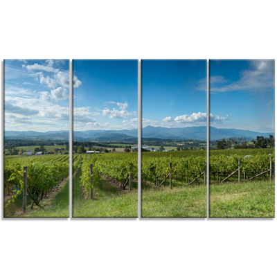 Designart View of the Yarra Valley Melbourne Photography Canvas Art Print - 4 Panels