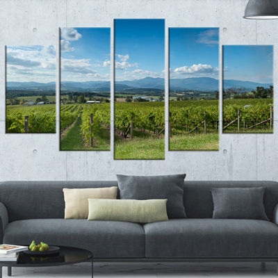 Designart View of the Yarra Valley Melbourne Photography Canvas Art Print - 5 Panels
