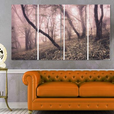 Designart Vintage Autumn Landscape Contemporary Canvas Art Print - 4 Panels
