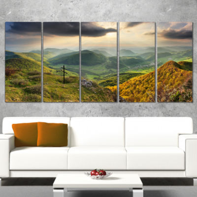 Slovakia Spring Forest Mountain Large Landscape Canvas Art Print - 5 Panels