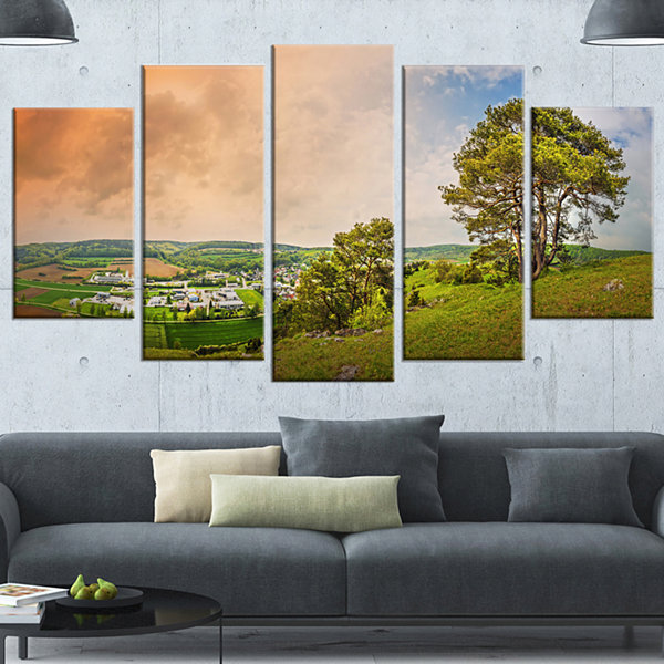 Design Art Mountains In Germany Panorama Large Landscape Canvas Art Print - 4 Panels