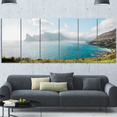 Designart Hout Bay From Chapman Peak Seashore Photo Canvas Art Print - 6 Panels