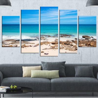 Designart Beach At Samed Island Thailand SeashorePhoto Canvas Art Print - 5 Panels