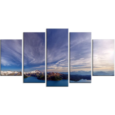 Stunning View Of Clear Lake Extra Large LandscapeWrapped Canvas Art Print - 5 Panels