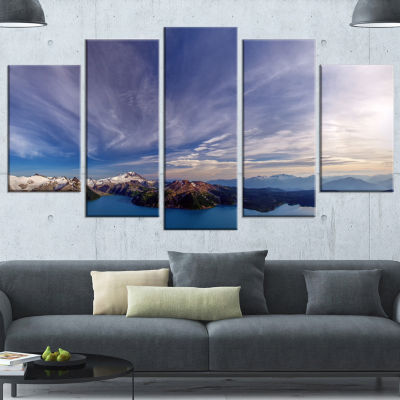 Designart Stunning View Of Clear Lake Extra LargeLandscapeCanvas Art Print - 5 Panels
